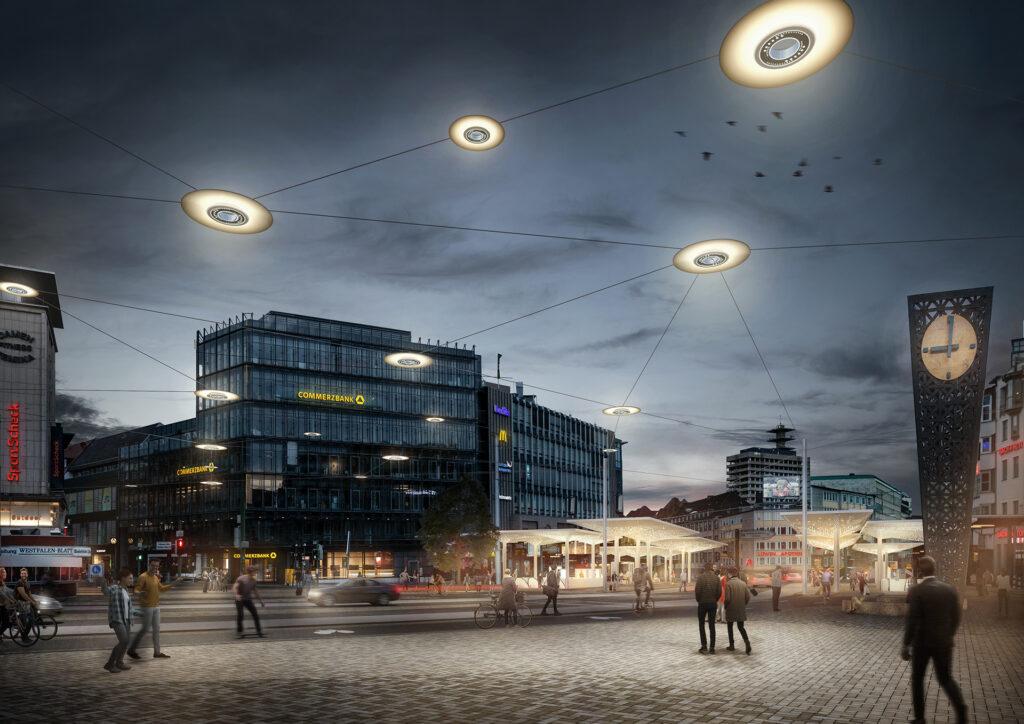 Visualisierung Jahnplatz, © loomn - architektur visualisierung