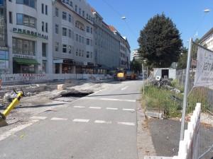 Alte Fahrbahn am Oberntorwall