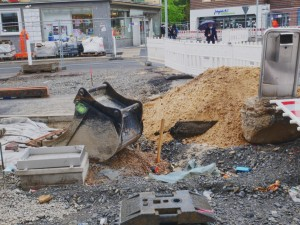 Arbeiten an der Betonfahrbahn Herforder Straße (1)