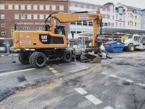 Arbeiten an der Betonfahrbahn Herforder Straße (3)