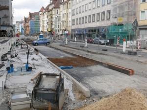 Arbeiten an der Betonfahrbahn Herforder Straße (2)