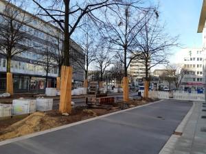 Asphaltierungsarbeiten Fahrradweg Alfred-Bozi-Straße