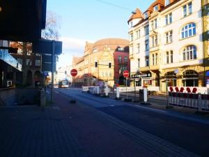 Baufeld Herforder Straße nach der Erweiterung