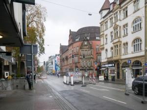 Baufeld Herforder Straße vor der Erweiterung