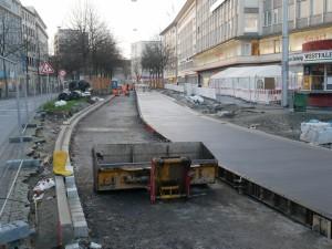 Betonfahrbahnarbeiten Alfred-Bozi-Straße