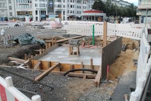 Betonfundament vor Commerzbank (3)