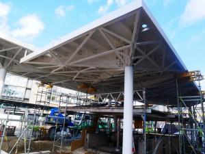 Haltestellendächer vor Cafe Europa Riemeier (2)