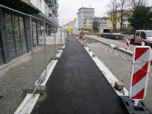 Neuasphaltierter Radweg Friedrich-Verleger-Straße