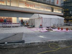 Pflasterarbeiten Alfred-Bozi-Straße SportScheck
