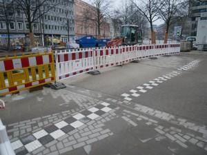 Pflasterarbeiten Einmündung Friedenstraße