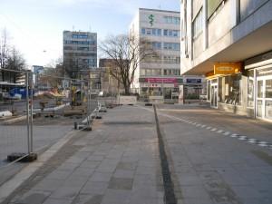 Pflasterarbeiten Gehwegbereich Einmündung Friedenstraße
