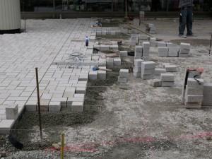Pflasterarbeiten am Niederwall (2)
