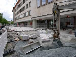 Pflasterarbeiten am Niederwall (3)