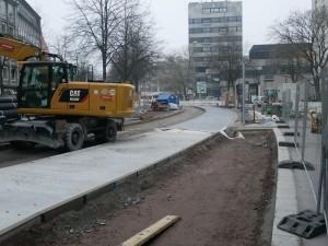 Straßenbauarbeiten Einmündung Friedenstraße