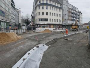 Straßenbauarbeiten Einmündung Wilhelmstraße Friedrich-Verleger-Straße