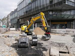 Vorarbeiten Leitungsverlegung Commerzbank McDonalds (2)