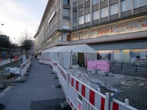 Zelt Pflasterarbeiten Alfred-Bozi-Straße